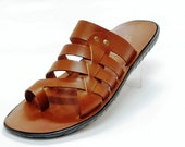 Greek Top Quality Man Leather Sandals