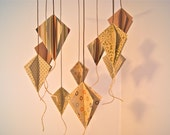 Antique 3D Paper Kite Mobile