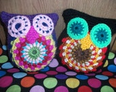 Colourful handmade crochet Owl Plush