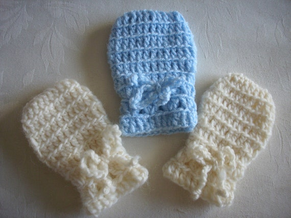 PDF CROCHET PATTERN Baby Infant Thumbless Mittens Winter Spring  Easy to Make Adorable Cute Cozy