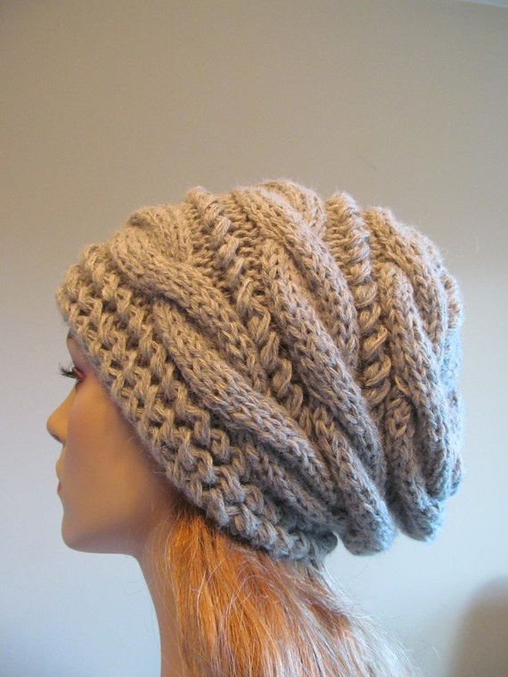 Slouchy Beanie Slouch Hats Oversized Baggy Cabled Hat Womens