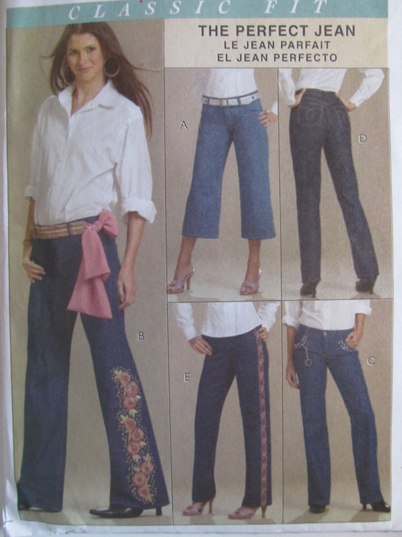 SEWING PATTERNS Jeans McCalls 5142 Spring Summer Womens Girls Large Extra Large