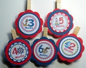 Photo Clips, Baby's First Year, Birthday Party, Nautical, Children Scrapbook