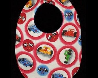 Baby Bib - Bright Racer race cars, BB051