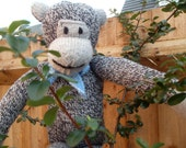 Hand knitted Boy Monkey Toy