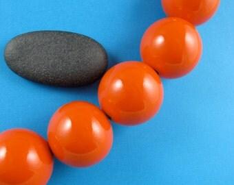 Large Orange Ceramic Beads