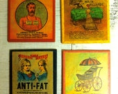 antique invention advertisement coasters