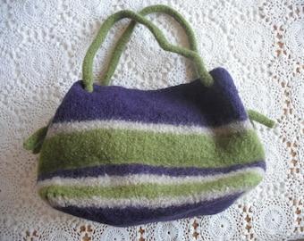 Boiled  -Wool Handbag ECS