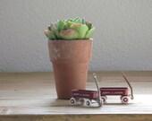 Miniature Red Radio Flyer Wagon