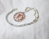 An Asian themed bright silver necklace (On Sale)