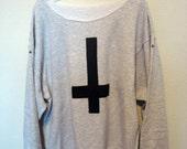 Light grey Inverted cross stud sweatshirt