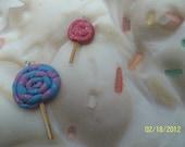Handmade Kawaii Style Fimo/Polymer Clay Lollipop Charms