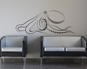 Giant Octopus Removable Vinyl Wall Art Release The Kraken, squid ocotopus wall decal octopus wall sticker nautical fish underwater animals