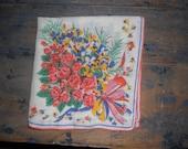 Flowers Vintage Handkerchief