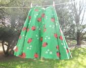 Vintage Ladybug Skirt