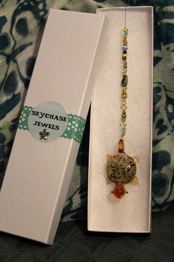 Rear View Car Mirror Dangler Turtle By Skychasejewels On Etsy