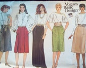 Vintage Vogue 1023 Basic Design Pattern Maxi Skirt, Straight Skirt, A-line Skirt Pattern Uncut Sizes 6-8-10