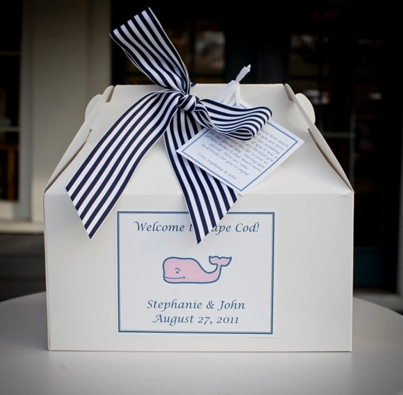 Personalised Wedding Gifts Cape Town : Personalized Cape Cod Welcome Boxes