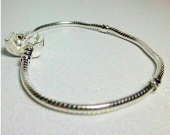 "European Style Charm Bracelet Chain  7 1/2"""