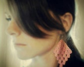 Crochet Chandelier Earrings