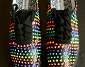 RAINBOW NEON DOT sneakers    available in white