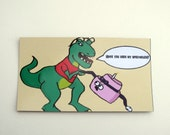 Flat Magnet with HateCake and Maria the T-Rex