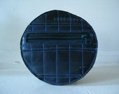 Circular coin purse made of recycled bicycle inner tubes