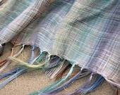 Pure 100 % natural linen pastel color shawl