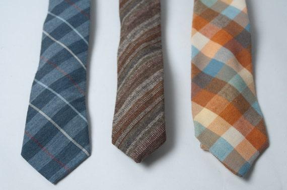 Set of 3 Vintage Slim Neckties