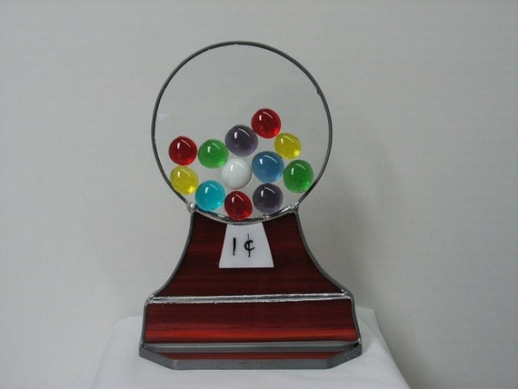 Gumball machine in Stained Glass Suncatcher
