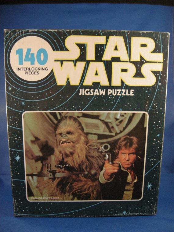 Han Solo and Chewbacca Puzzle 1977 / Blue Box Version
