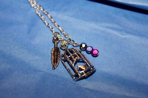 SALE 50% off: Silver Bird Cage Necklace