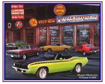 Car Art Handsigned Print Set Mopar Lover Collection