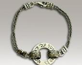 Sterling silver unisex Kabbalah charm bracelet - Bless me 2.
