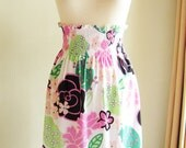Skirt Smocked High Waisted - Floral Pattern