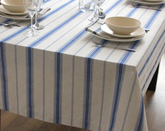 blue tablecloth etsy. Black Bedroom Furniture Sets. Home Design Ideas