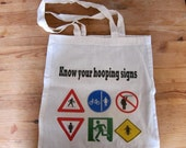 Know Your Hooping Signs - tote bag