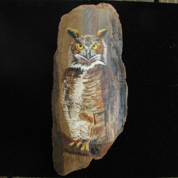 Driftwood Art Owl