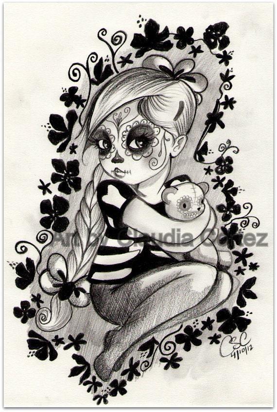 Floral calavera girl