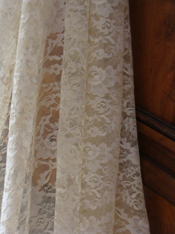 "Vintage Lace French  Panel ecru in colour 75"" x 64"""