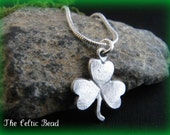 Lovely Silver Celtic Irish Shamrock Necklace - TheCelticBead