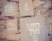 I WILL Beatles lyrics nursery print grouping, FOUR prints, grey and white