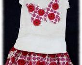MaisyMoo Designs FREE shipping in Australia, Girls Matching Bloomer Set - 'Lola'  ruffle bots,  butterfly applique 0 - 2 yrs