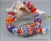 Indian Summer - Lampwork Bracelet by MIchou