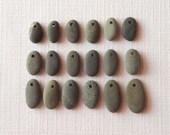 Beach Pebble Beads - Set of 18