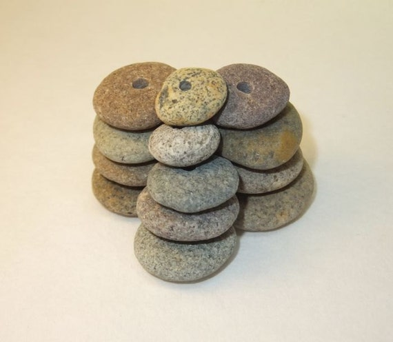 Beach Pebble Beads - Soft Muted Colors