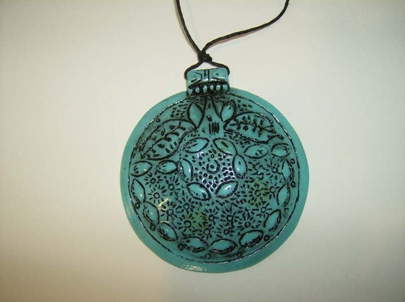 Mystical Large Turquiose-Look Enamel Necklace