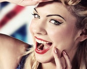British Girl - Pin Up Art Photography On Canvas