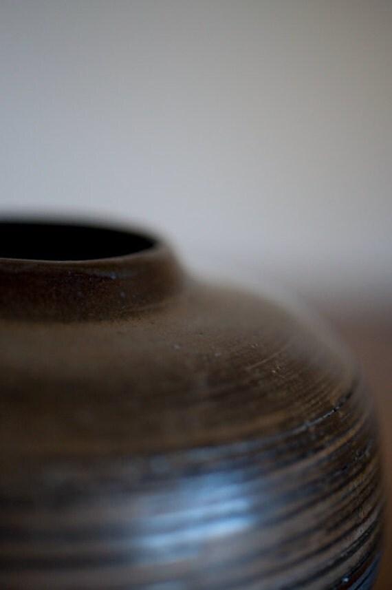 Small vase in Black Clay