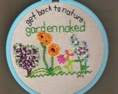 Back to Nature 14-stitch Original Wall Art - OOAK, Ready to Hang